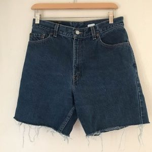 VTG Levis Cutoff Denim Jean Shorts Size 10 Miss